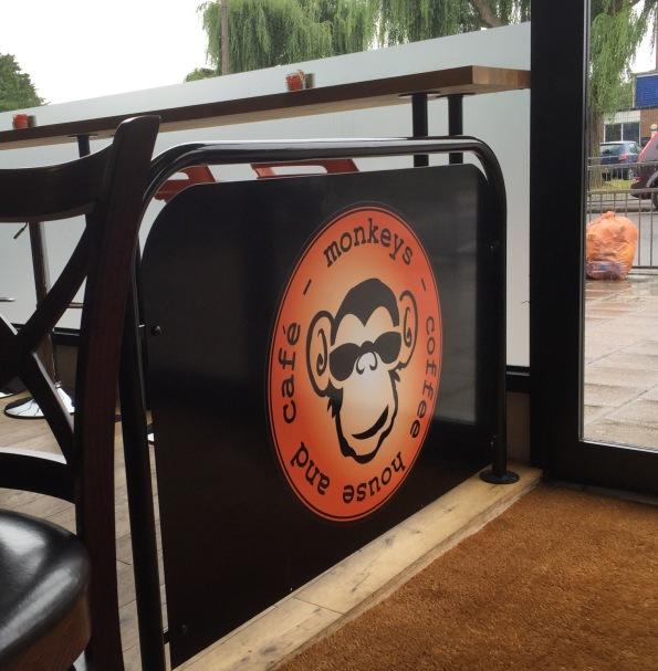 Earl Gray & a bap down Monkeys Cafe.