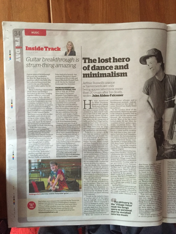A musical breakthrough says The Independent just a few days after we made the first sounds.